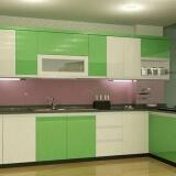 màu sơn phòng bếp màu xanh