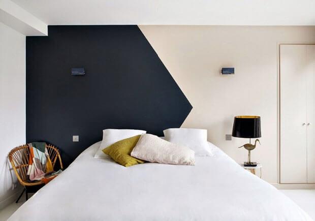 Mẫu sơn phòng ngủ cách điệu