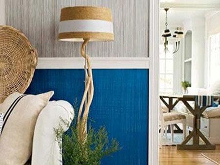 sơn tường nhà đẹp hiệu ứng thớ vải