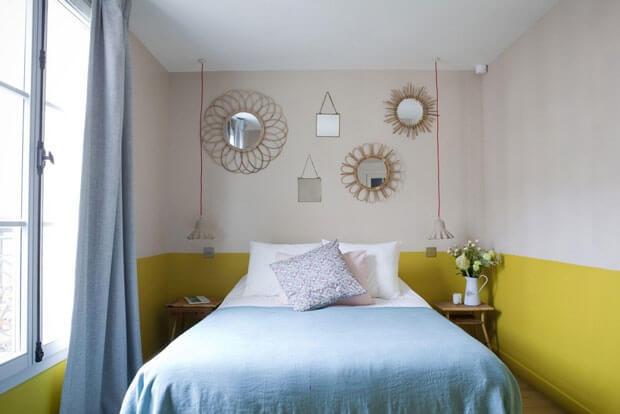 sử dụng màu sơn phòng ngủ gam màu sẫm