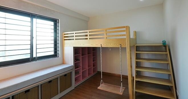 Thiết kế cải tạo phòng ngủ trẻ em kiêm chỗ vui chơi an toàn cho trẻ nhỏ