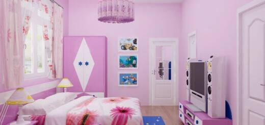 Bí kíp chọn màu sơn cho phòng con gái yêu